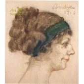 Woman portrait - El sonriure de la Glòria (1910)
