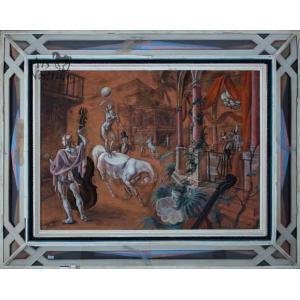 Rua de Carnaval – L'écuyère et les musiciens (1933)