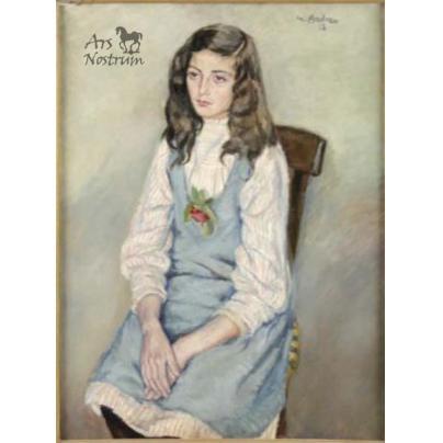 "Portrait of ""Muchacha sentada"" (1918)"