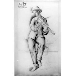 Jeune home au violon (1925)